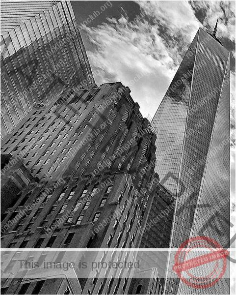 262 Linda Kontos_Looking Up or Looking Down BEGINNER MONOCHROME_NYC thru the Sunroof_9 Award