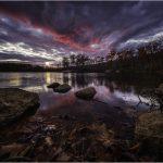 Lake Skannatati sunset