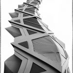 105 Pam Grafstein_All Things Considered SALON MONOCHROME_Serpentine Spire_Honorable Mention